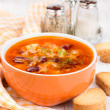 Soup with red beans and carrots — Stock Photo
