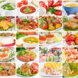 Collage of various tasty and wholesome food — 图库照片