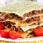 Italian dish lasagna — Stock Photo