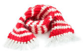 Red woolen scarf — Stock Photo