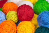 Colorful balls of wool yarn — Stock Photo
