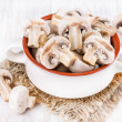 Mushrooms in a ceramic bowl — Stock Photo #35592413