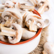 Mushrooms in a ceramic bowl — Stock Photo #35592417