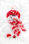 Рождественский снеговик — Стоковое фото