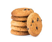 Oatmeal cookies isolated on white — Stock Photo