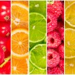 Collage of fresh summer fruit — Stock Photo