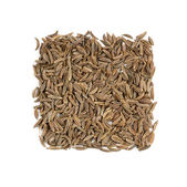 Cumin seasoning isolated on white   — Stock Photo