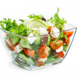 Salad with fresh vegetables — Stock Photo #46130579