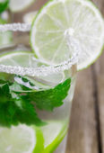 Drink of lime and mint   — Stockfoto