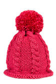 Knitted hat with a pompon  — Stock Photo