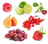 Uppsättning av frukter och bär — Stockfoto