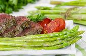Beef steak medium roast — Stock Photo