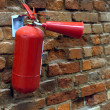 Stock Photo: Red fire extinguisher
