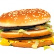 Isolated photo of a real hamburger — Stock Photo