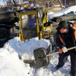 Clearing snow — Stock Photo