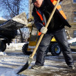 Clearing snow — Foto de Stock