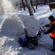 Clearing snow — Foto Stock