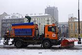 Snowblower in winter — Stock Photo