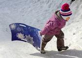 Children skating — 图库照片