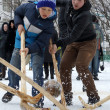 Winter folk games — Stock Photo