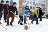 Winter folk games — Stock Photo