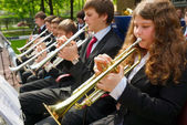 Children's Brass Band — Stock Photo
