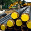 Stock Photo: Pipes for heating duct