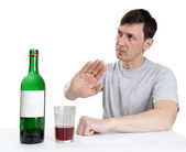 Man shows gesture of refusal — Stock fotografie
