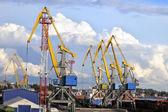 港口起重机 — 图库照片