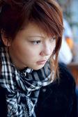 Portret poważne girl — Zdjęcie stockowe