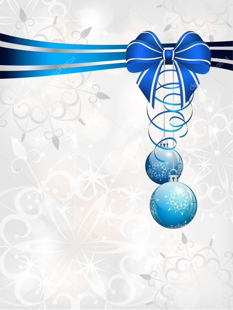 Blue Christmas Bow Transparent Background Christmas Background With Blue