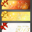 New year 2013 banners — Stock Vector