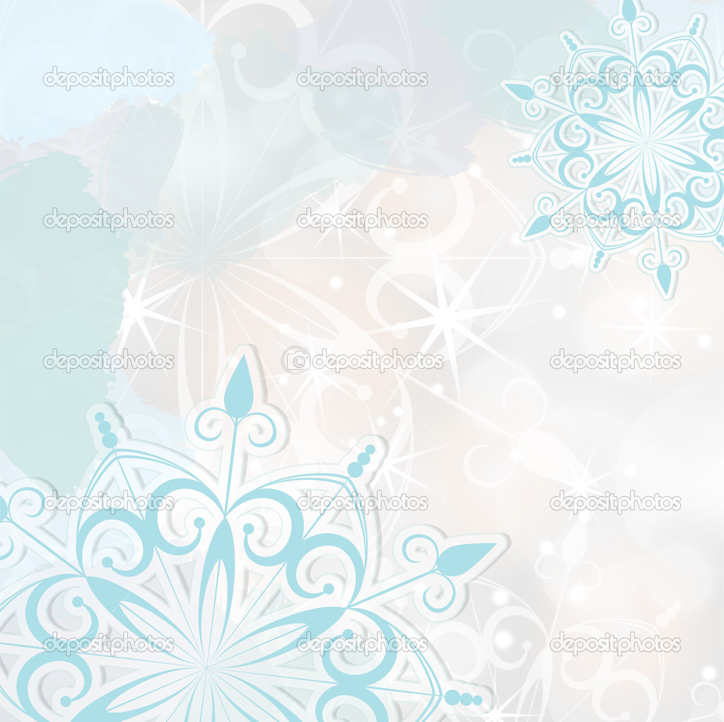 Abstract seasonal winter background, vector illustration, with transparency and gradient meshes, eps 10  Stock Vector #15521503
