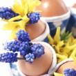 Royalty-Free Stock Photo: Easter eggs with flowers