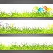 Royalty-Free Stock Vector Image: Three banners with easter motive
