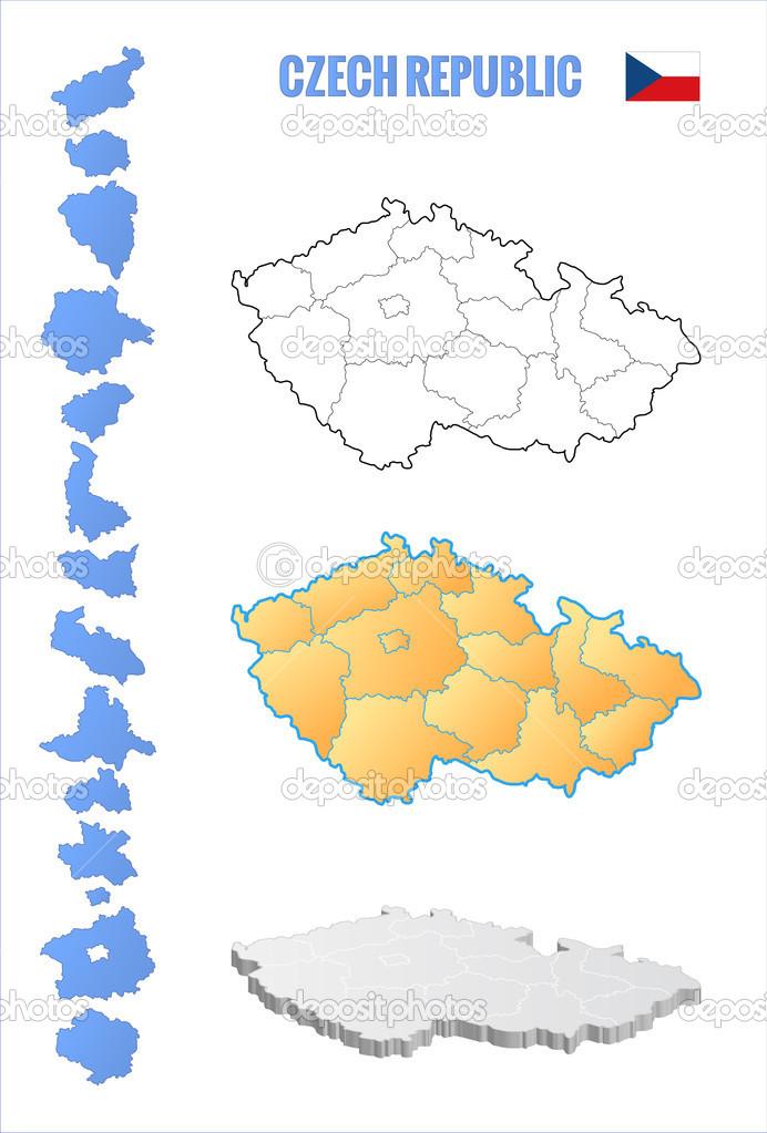 矢量图的轮廓地图