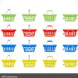 Stock Vector: Shopping cart icon for website