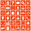 Web icons for eshop, flat design — Stock Vector