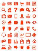 Web icons for eshop, flat design — Stock Vector