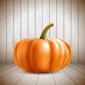 Pumpkin on wooden background — Stock Vector