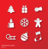 Christmas simple icons — Stock Vector