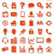 Stock Vector: Red web icons for eshop