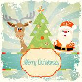 Vintage christmas theme — Vecteur
