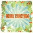 Abstract christmas background in retro style — Stock Vector