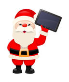 Santa Claus with tablet computer — Stock Vector