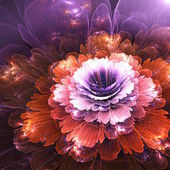 Abstract flower, computer generated graphic — Stock Photo