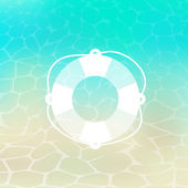 Sea motive - life buoy — Stock Vector