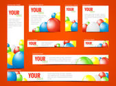 Set of  web banners with balloons — Stock Vector