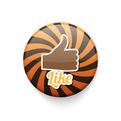 Badge button with like motive — Stock Vector