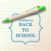 """back to school"" sketch with ballpoint — Stock Vector"